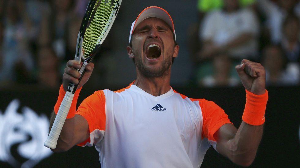 Carreño y García-López, en su partido de dobles en Melbourne