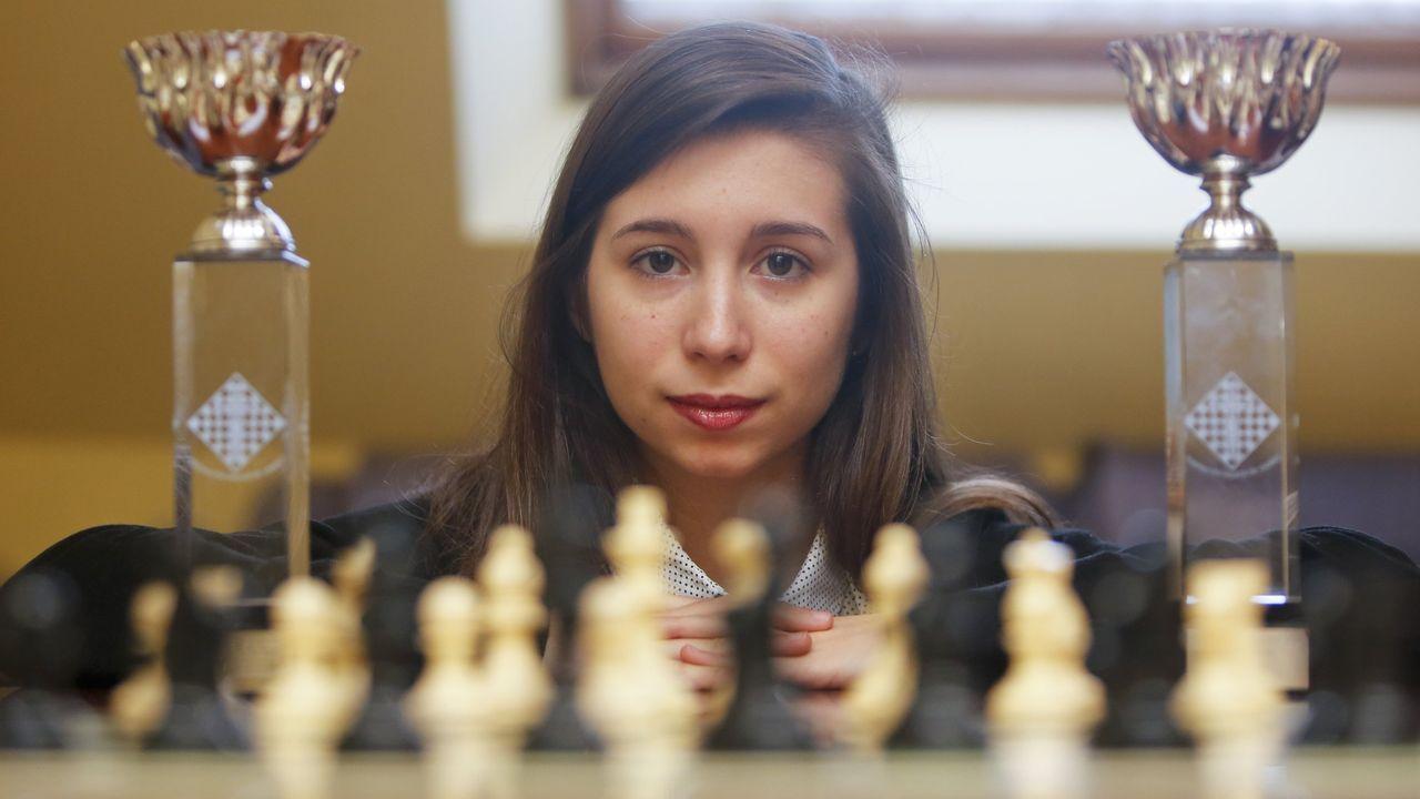 Inés Prado, campeona gallega de ajedrez