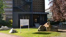 Acceso a la Facultad de Geología, en la zona de Llamaquique