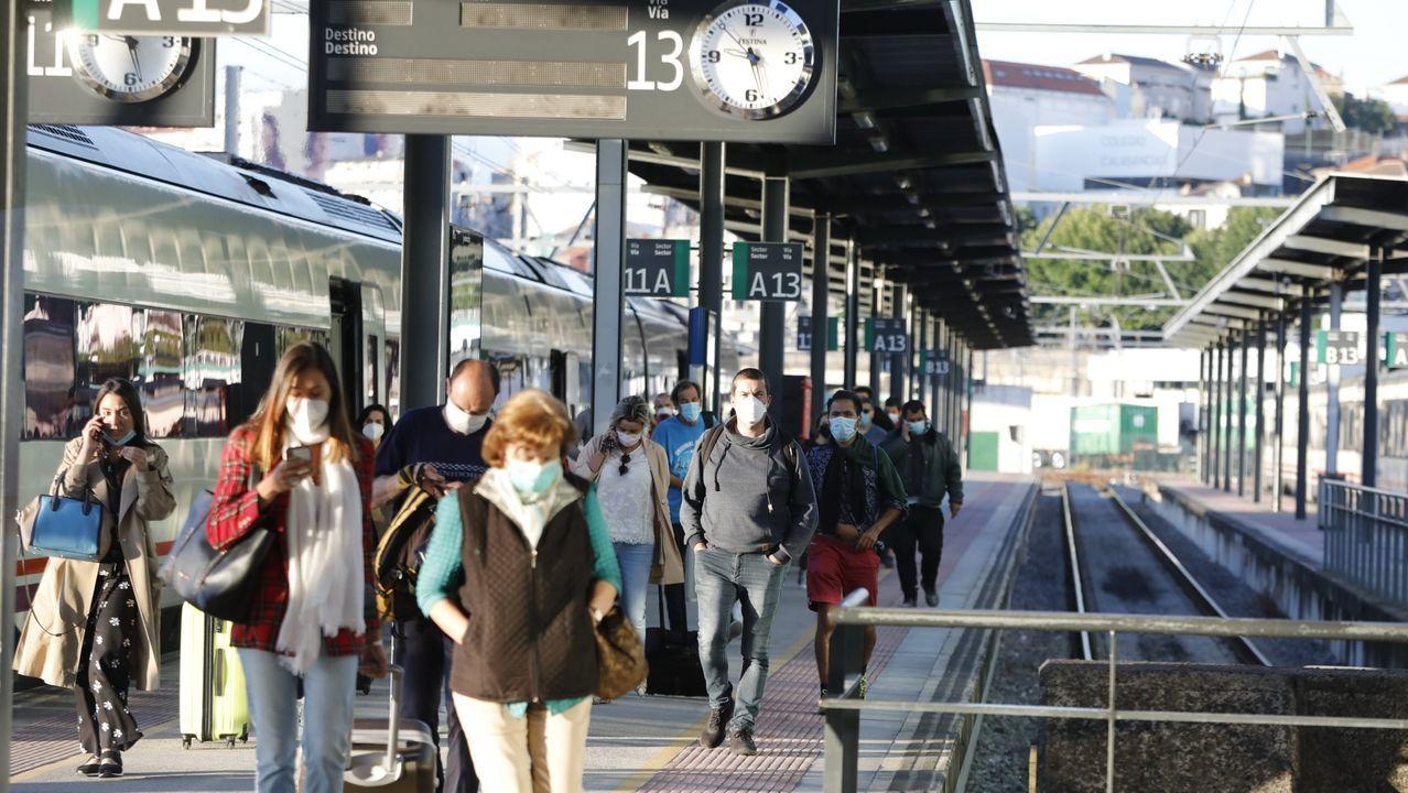 La suspensión de servicios por la crisis sanitaria se dejó sentir en la estación de Monforte