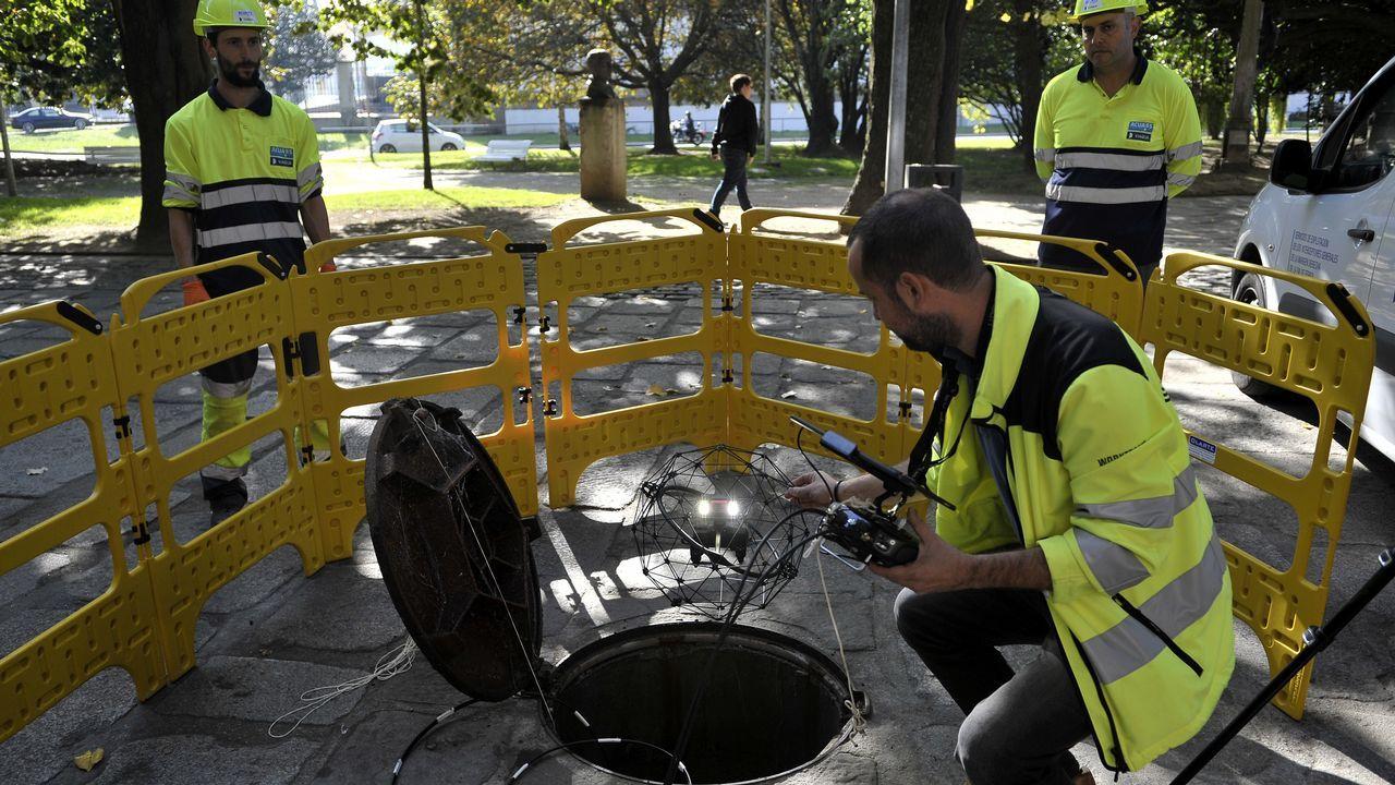 Tecnología dron para revisar la red de saneamiento