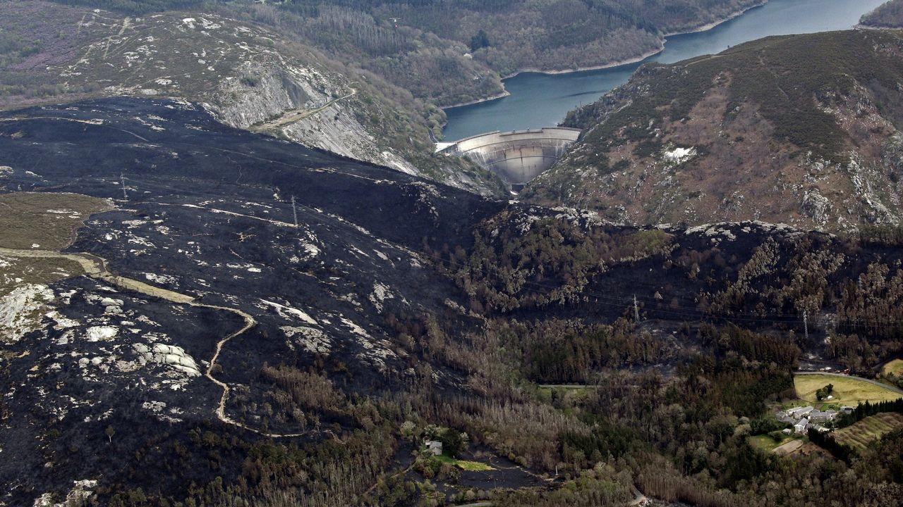 Concentracion de medicos en el centro de salud de rosalia de castro. Huelga.Vista aérea del incendio forestal que asoló el Parque Natural de las Fragas do Eume en el año 2012