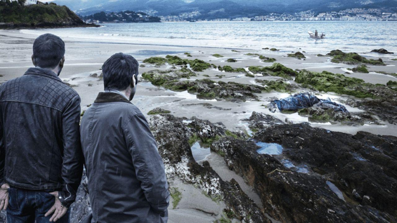 PLAYA DE A MADORRA (PANXÓN, NIGRÁN). «La playa de los ahogados» (G. Herrero, 2015). Las localizaciones del libro de Domingo Villar también fueron las de esta reciente película.