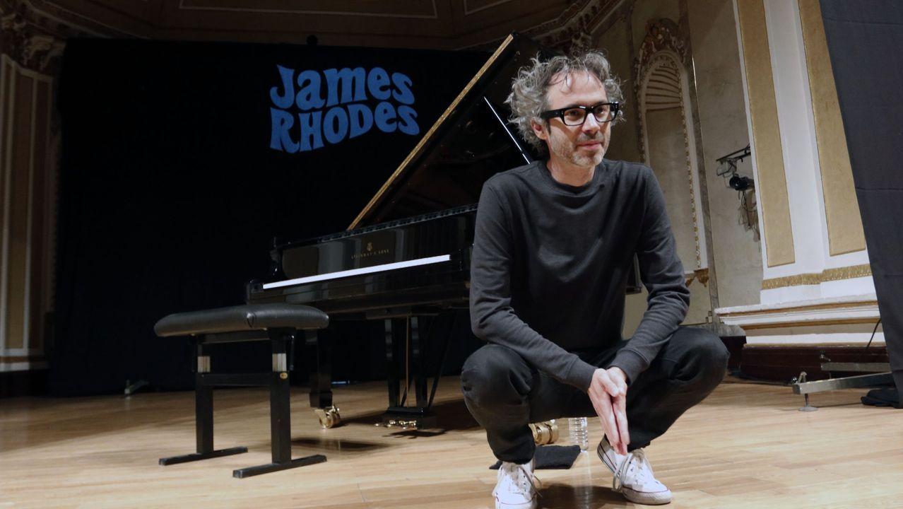 O pianista James Rhodes o pasado verán