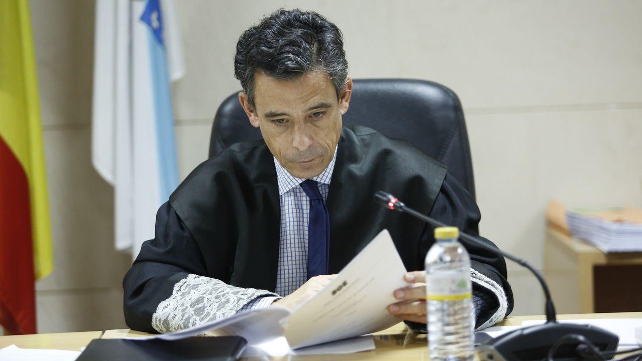 Ángel Pantín, juez del caso Diana Quer, en la novena jornada del juicio