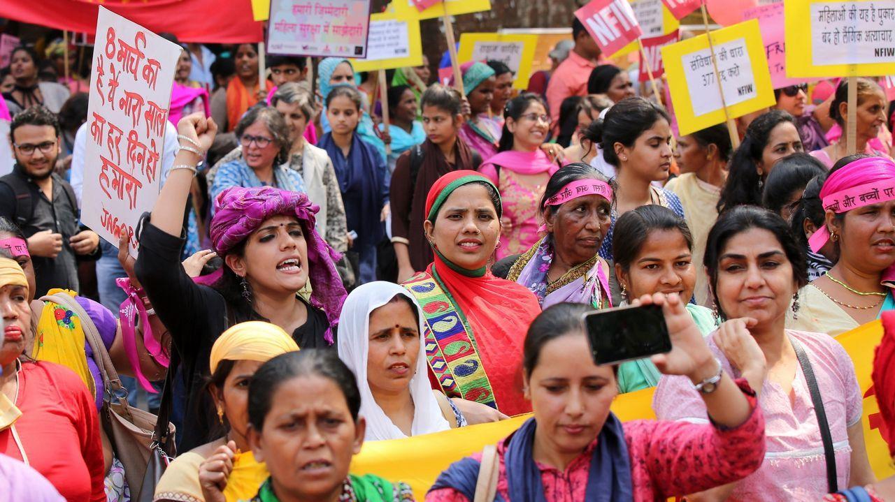 Marcha en en Nueva Delhi (India)