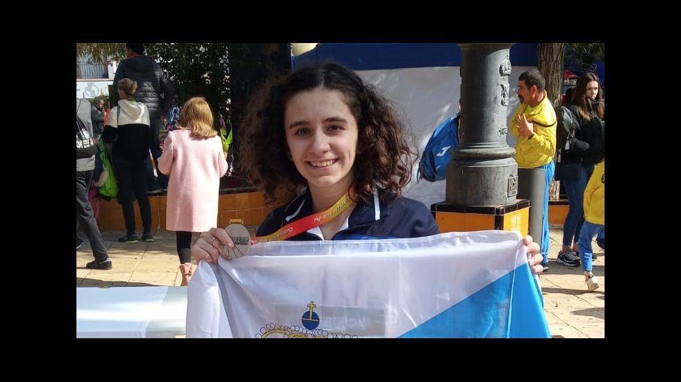 El Quicela en acción en el campeonato gallego online de gimnasia
