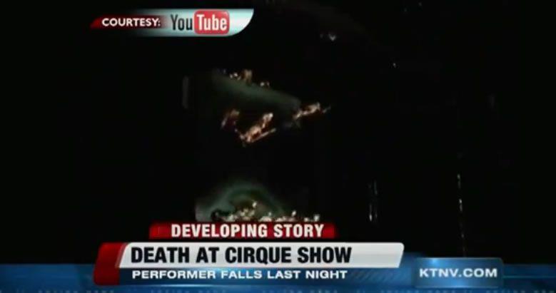 Fatal accidente en Las Vegas.Enrico Macaggi, con uno de los dromedarios que participan en el espectáculo de Wonderland.
