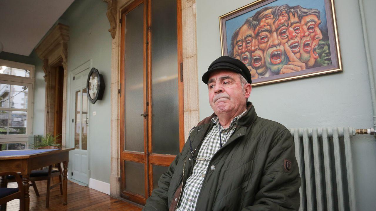 El ex guardia civil monfortino José Antonio Iglesias, en Sarria, lugar en el que reside ahora