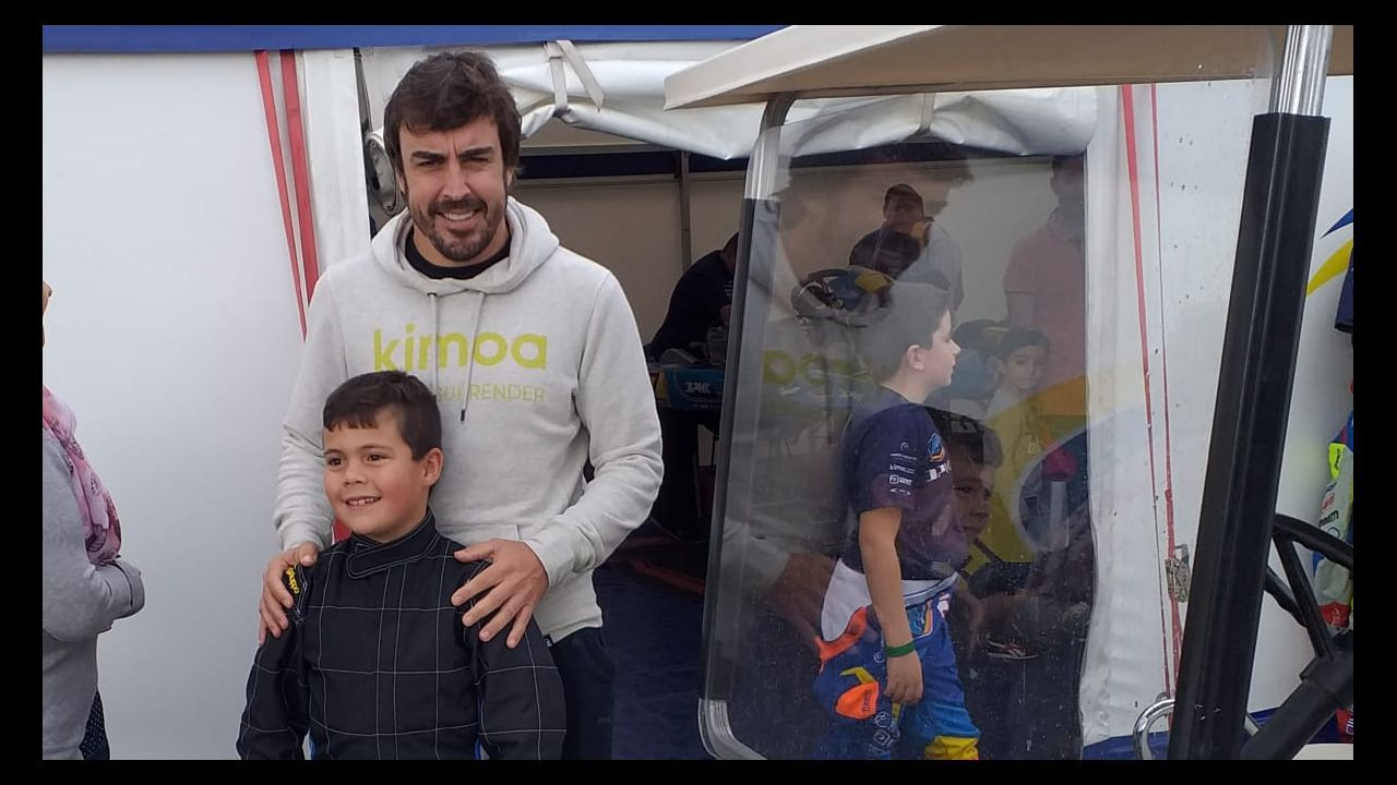 Alonso, durante la etapa de hoy