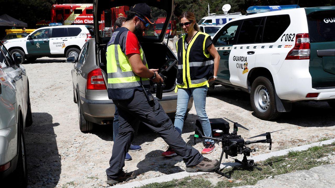 Los responsables de la búsqueda cuentan con varios drones para rastrear los puntos menos accesibles