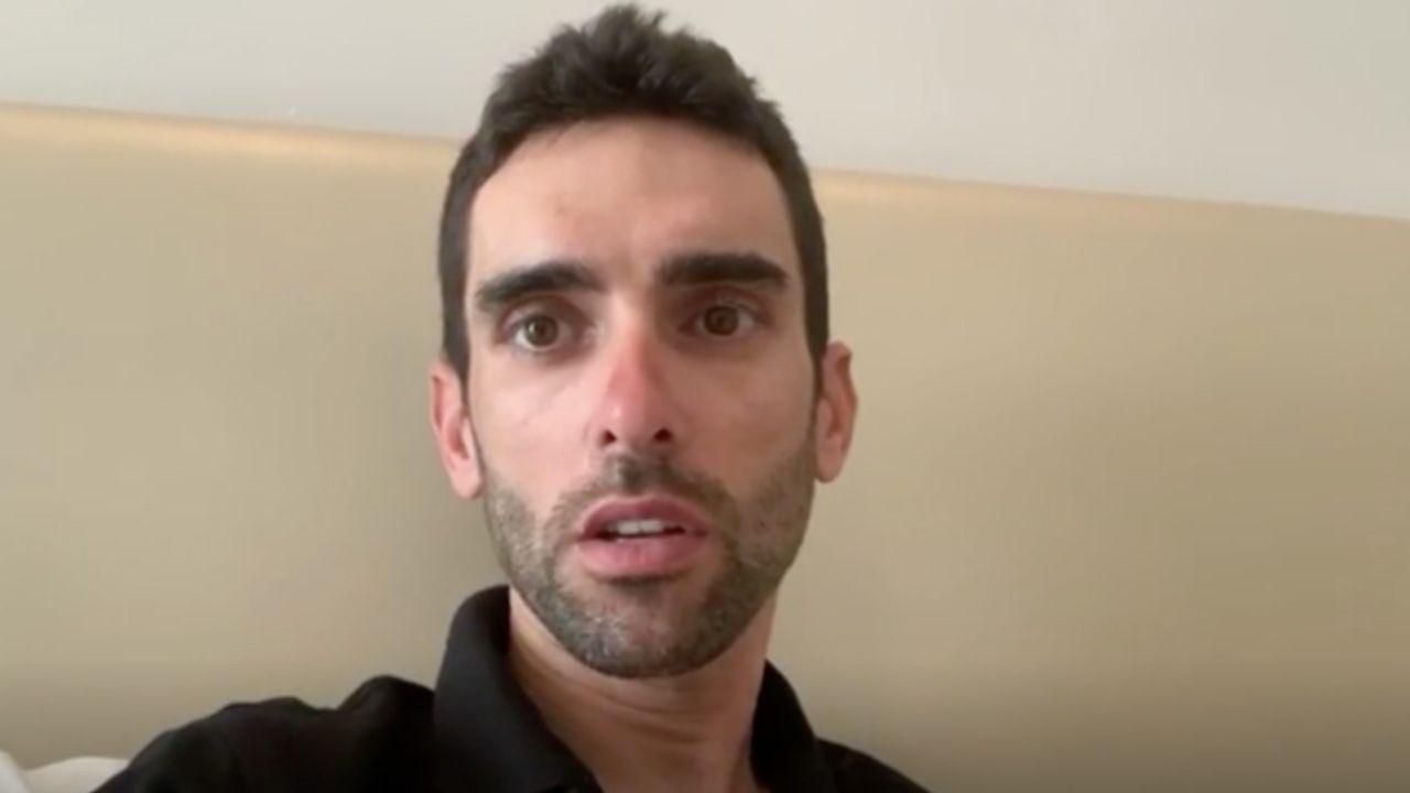 Todos los futbolistas con contrato con el Deportivo.El ciclista asturiano Dani Navarro, en el hotel de Abu Dabi