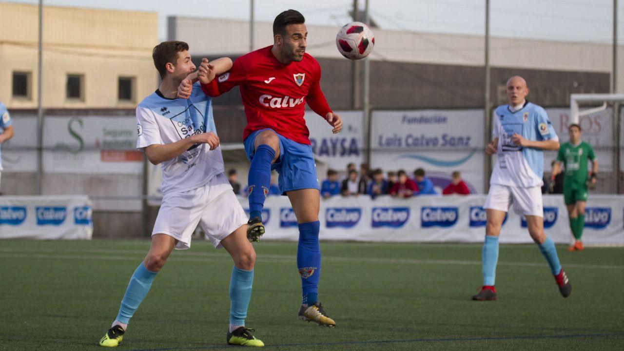 Bergantiños y Compostela en un partido del 2019