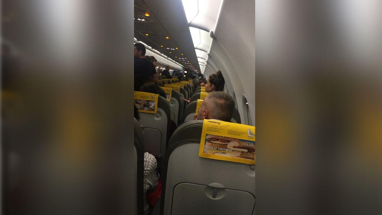Imagen cedida por uno de los pasajeros