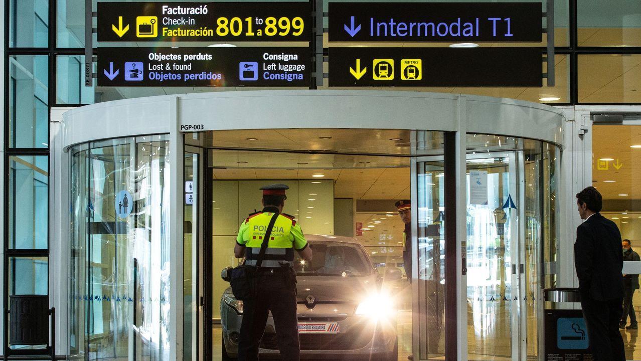 Los agentes investigan cómo pudo acceder a la Terminal 1 el vehículo con los dos albaneses