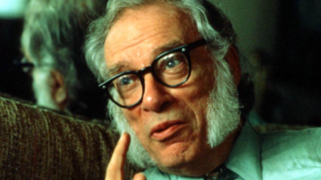 El popular novelista de ciencia ficción Isaac Asimov (Petróvichi, Rusia, 1920-Nueva York, EE.UU., 1992)