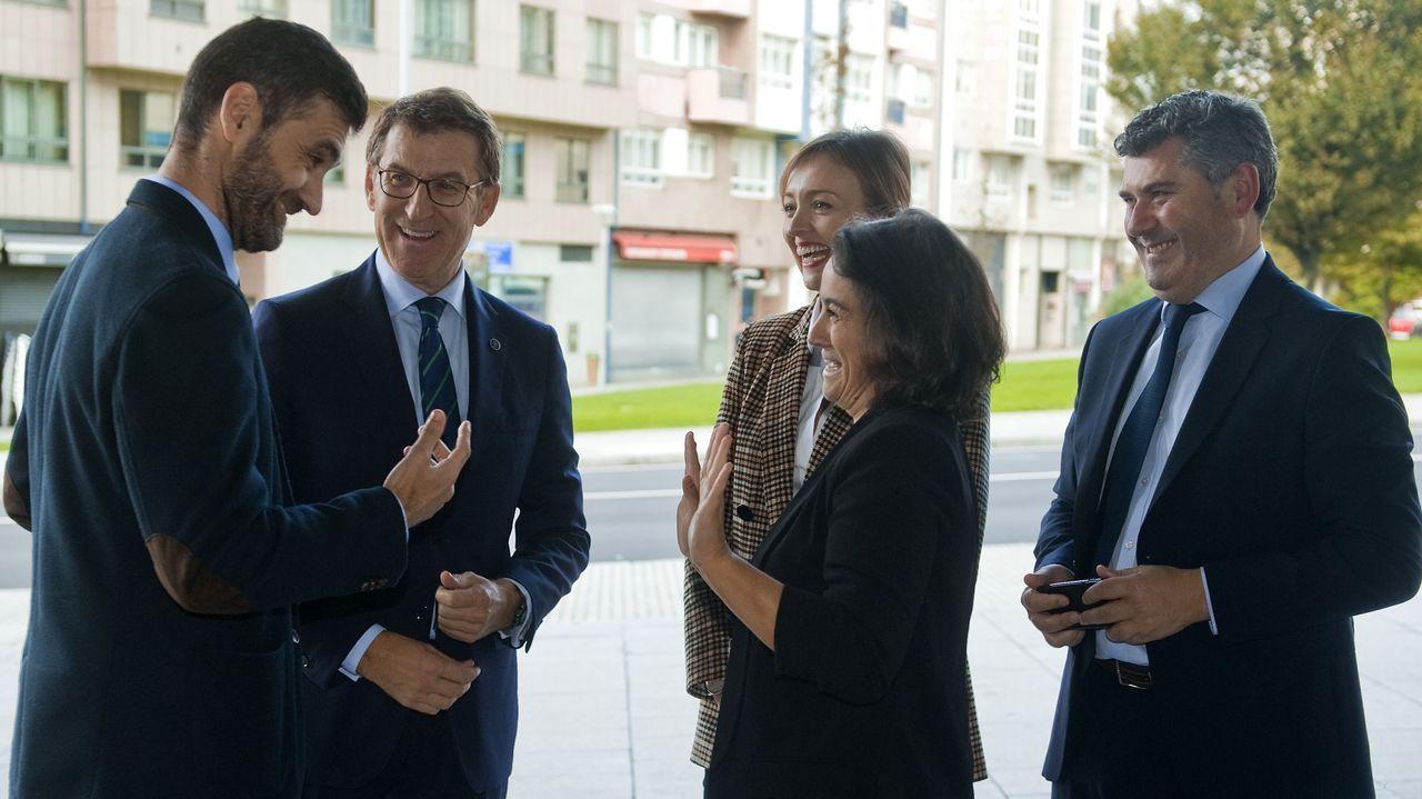 Así fue el recibimiento de los 30 policías de la UIP en A Coruña.Vista general del pleno de la Diputación de A Coruña