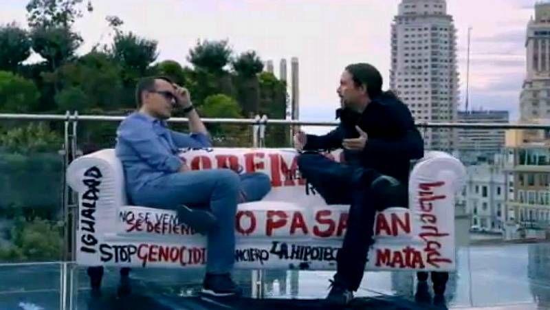 Pablo Iglesias en «Viajando con Chester».Forum Europa en A Coruña, Fernández Alvariño