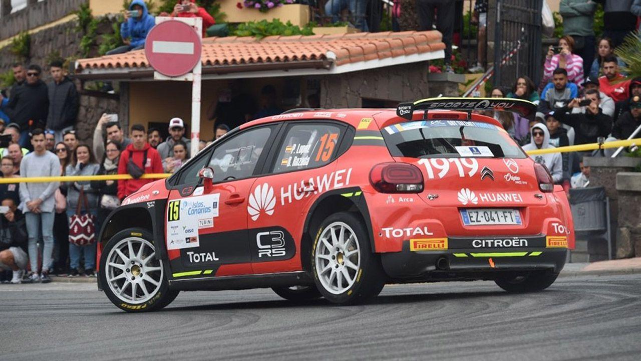 El madrileño Pepe López, líder del Campeonato de España de Rallye,s con su habitual Citroën  C3 R5