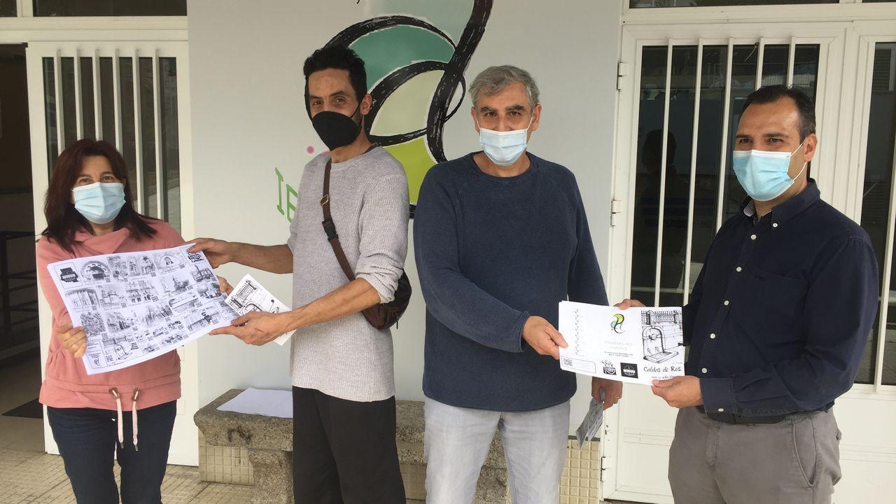 Kilómetros por Mozambique en Caldas.El IES Aquis Celenis de Caldas colabora con el diseño de mantelería y trípticos turísticos para las asociaciones de comerciantes y hostelería