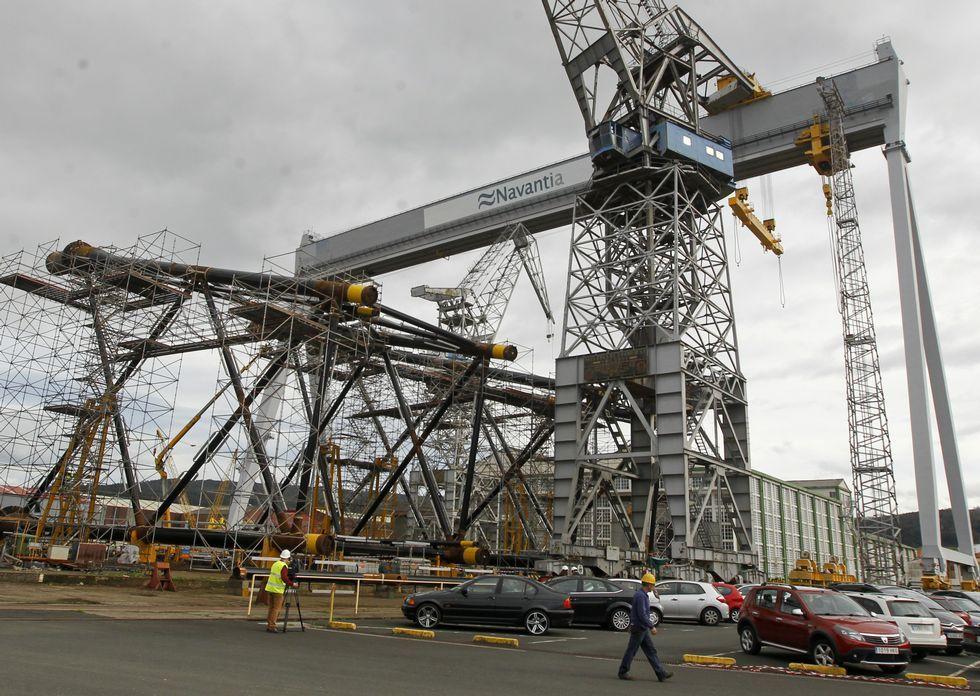 El astillero de Fene se adentró el pasado verano en la eólica marina.