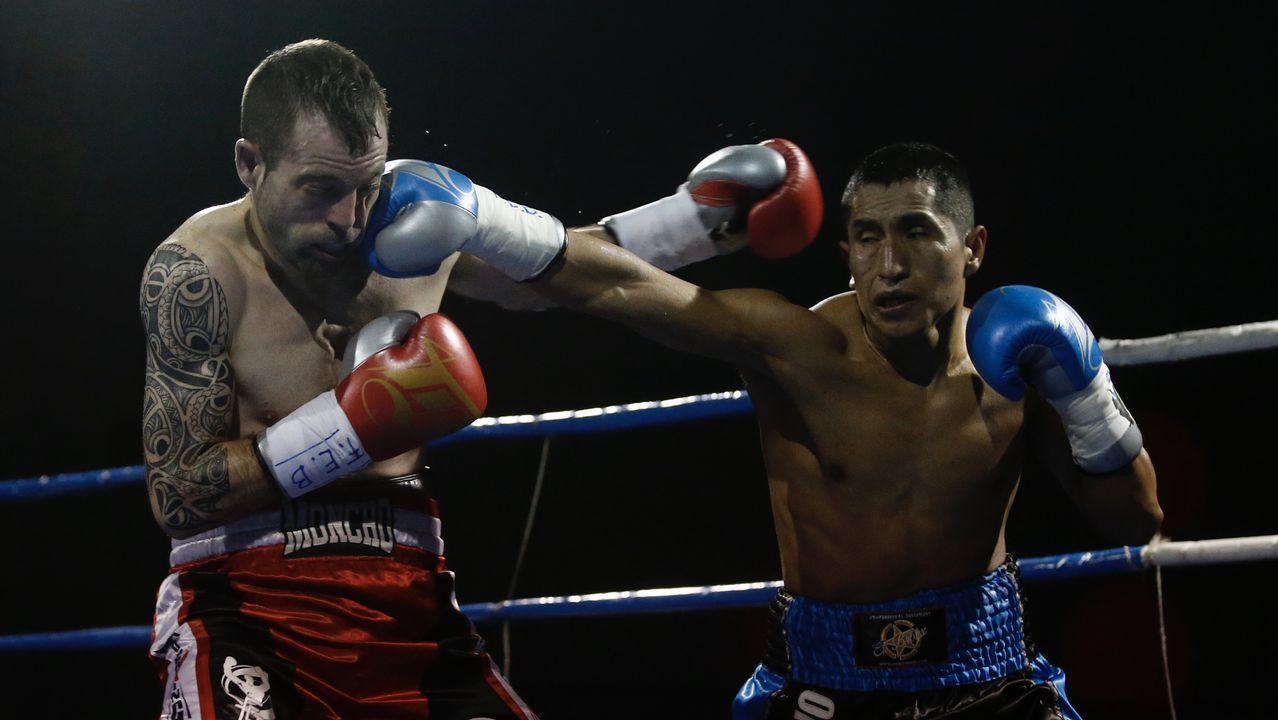 Boxeo. Combate Moncho Mirás-Juan Hinostroza