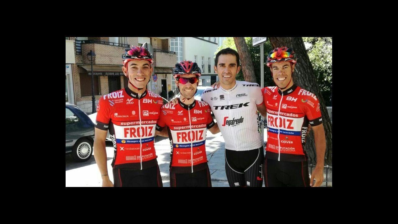 Turismo deportivo. Bici en Xagó.Samuel Sánchez superó a los favoritos.