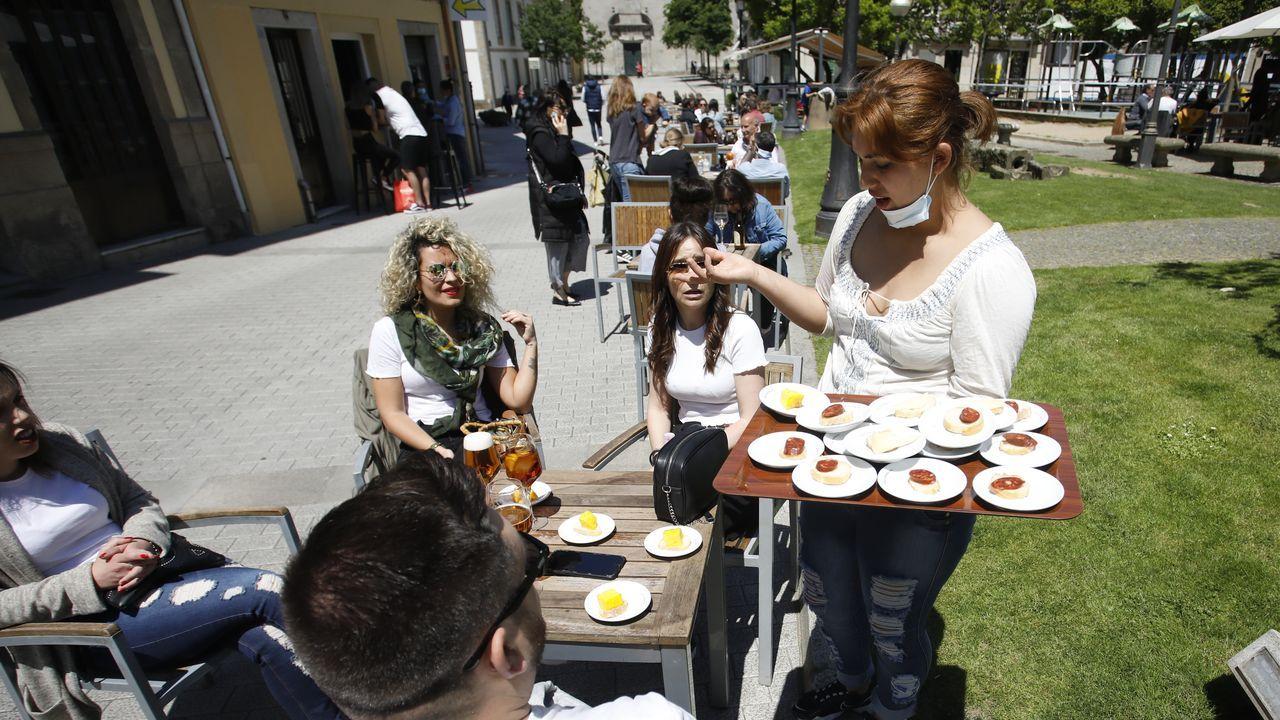 Sábado de terrazas en Lugo.Café del Centro