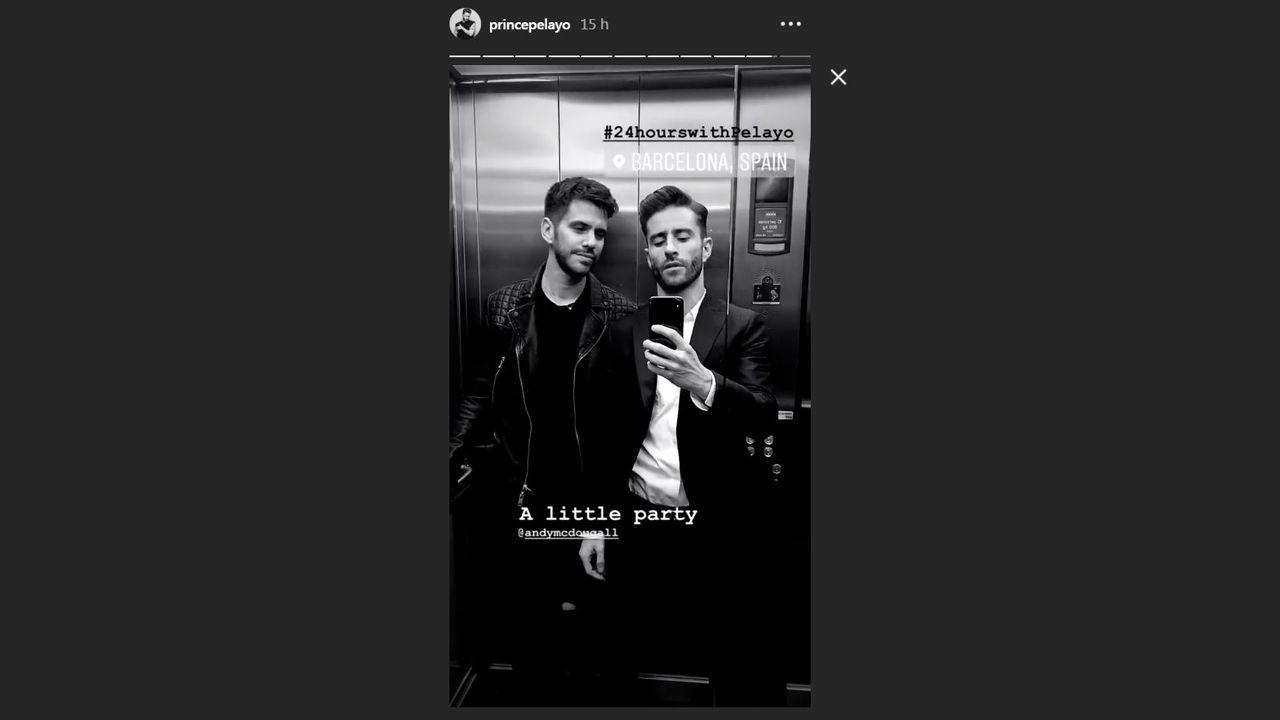 Pelayo Díaz y Andy Mcdougall preparados para irse de fiesta en Barcelona