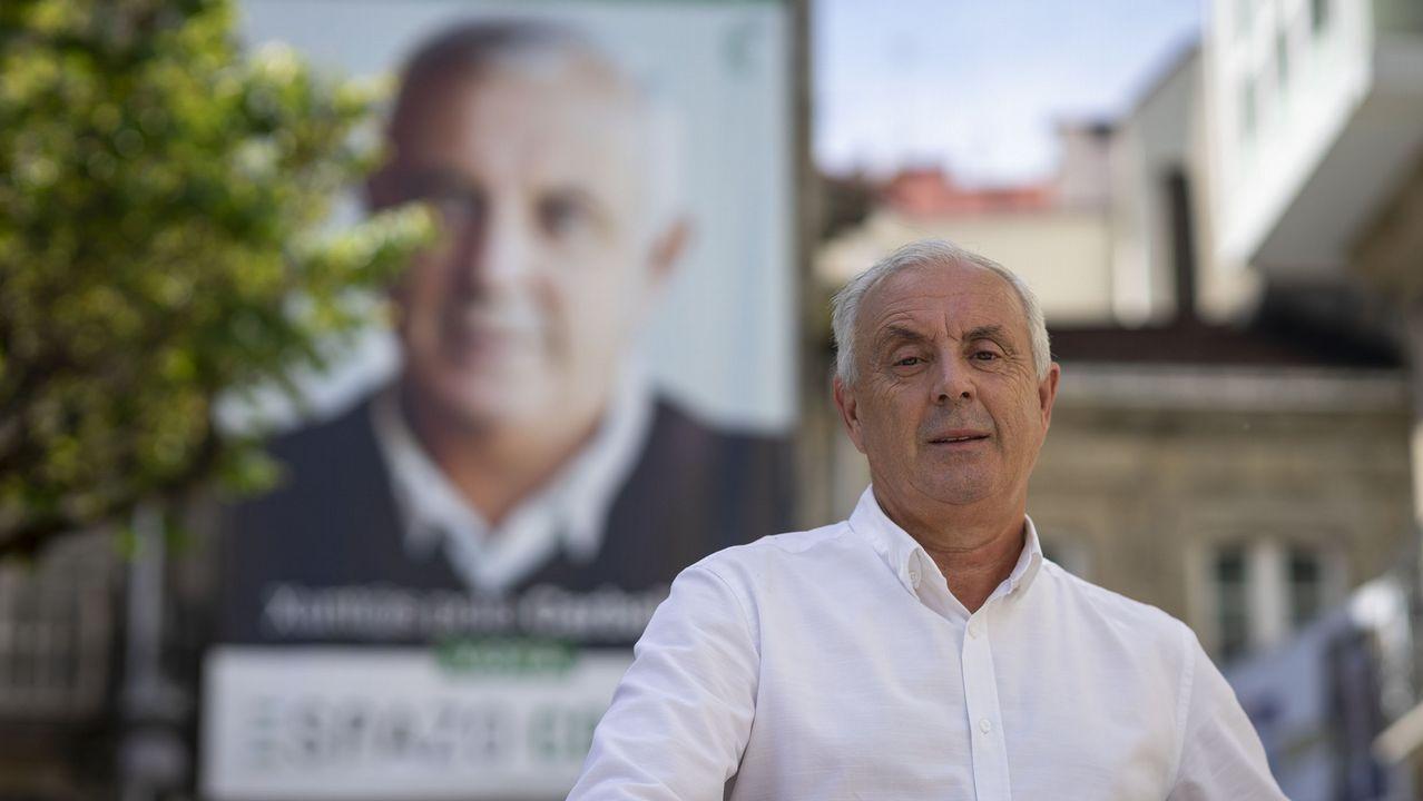 Pachi Vázquez, exsecretario xeral del PSdeG, al optar a la alcaldía de O Carballiño en el 2019 por Espazo Aberto