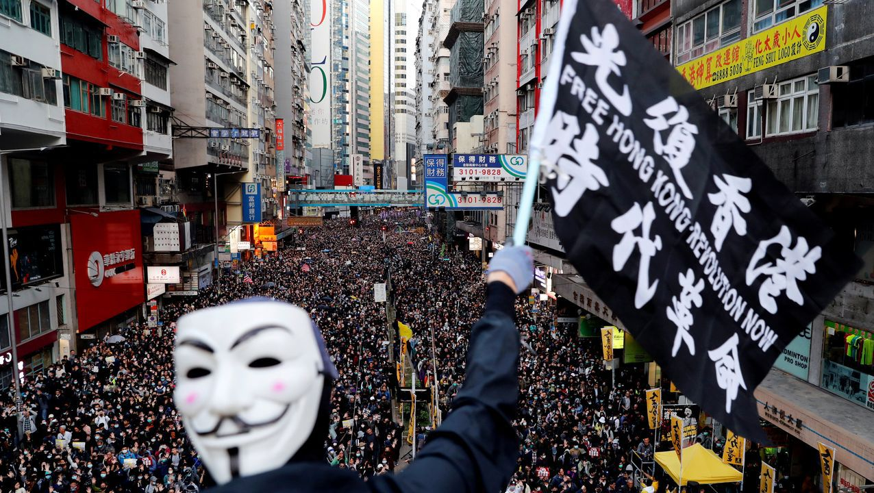 Por primera vez en meses, no hubo cargas policiales en las calles de Hong Kong