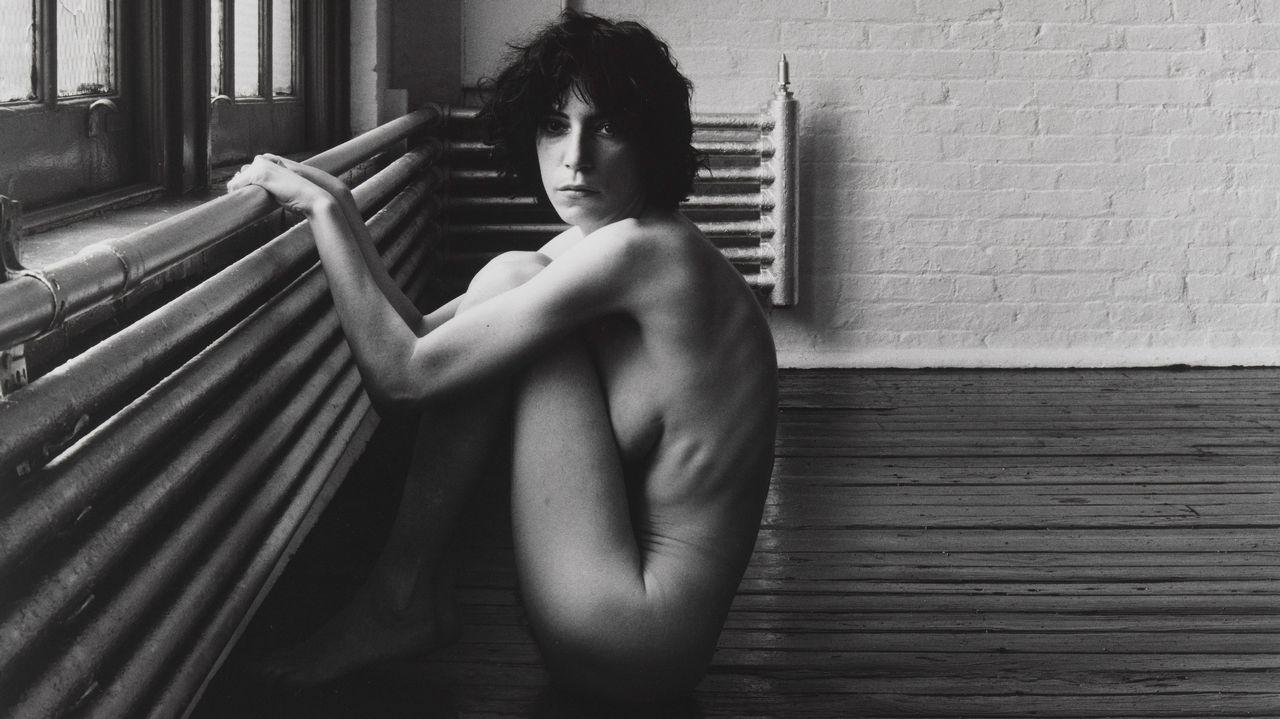 Detalle de la fotografía de Robert Mapplethorpe cedida por el museo Guggenheim de Nueva York «Patti Smith» (1976)