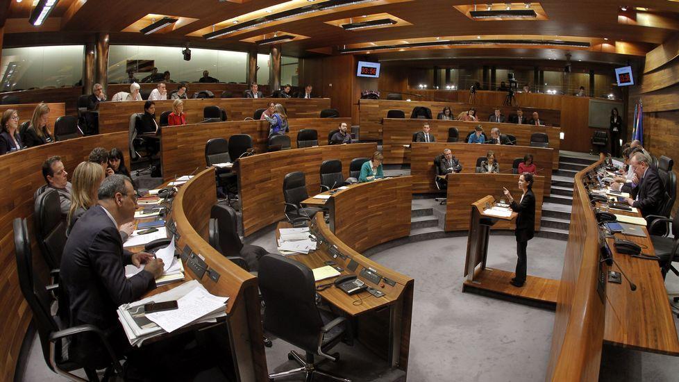 Mercedes Fernández y Carlos Rodríguez de la Torre, en un comité ejecutivo regional del PP.Mercedes Fernández y Carlos Rodríguez de la Torre, en un comité ejecutivo regional del PP