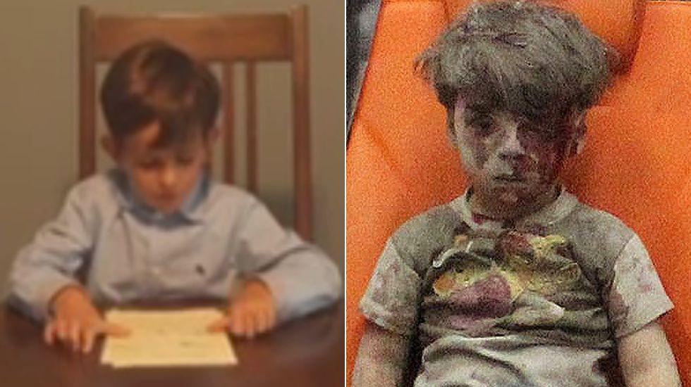 Un niño pide a Obama poder acoger a Omran.Uno de los supervivientes del naufragio.