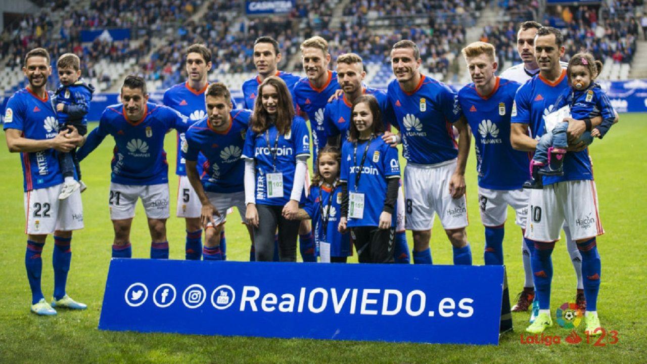 Aaron lesion Carlos Tartiere Real Oviedo Numancia Horizontal.Alineación del Real Oviedo ante el Numancia