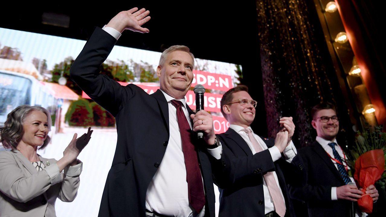 Antti Rinne, lider de los socialdemocratas finlandeses