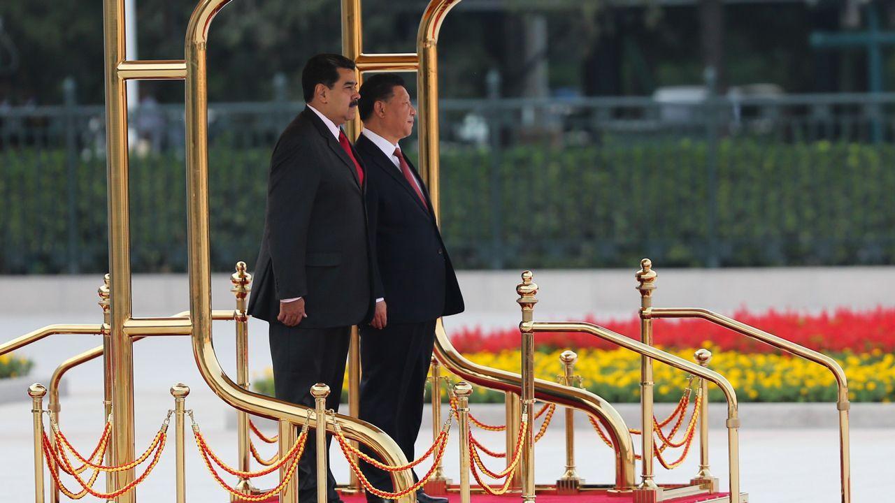 Nicolás Maduro con el presidente chino, Xi Jinping
