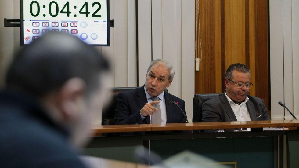 El alcalde José Tomé, en el pleno municipal de este lunes en Monforte