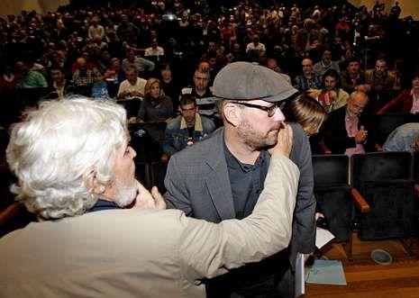 Beiras y Martiño Noriega, en la primera asamblea nacional de Anova, celebrada en junio.