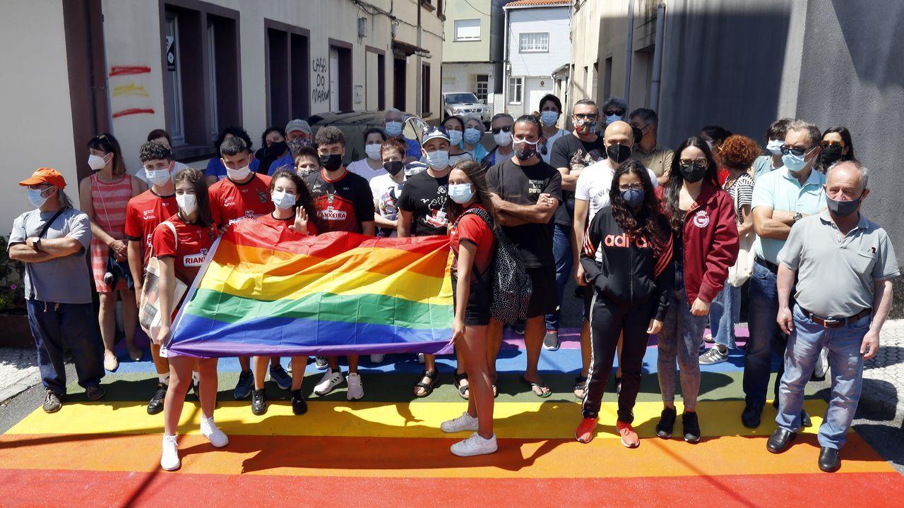 Marcos Fernández y Alexander Docherty en la marcha