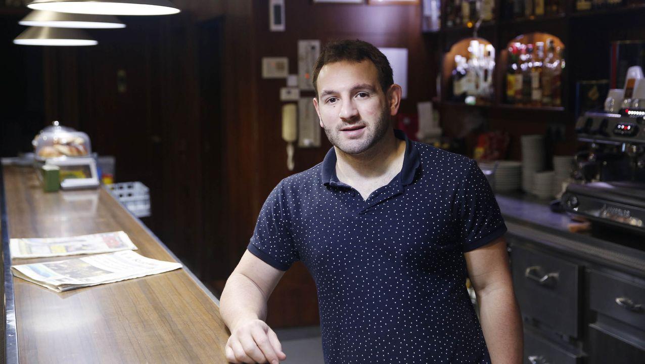 Javier Rivero, responsable del hotel Orly en Xinzo de Limia