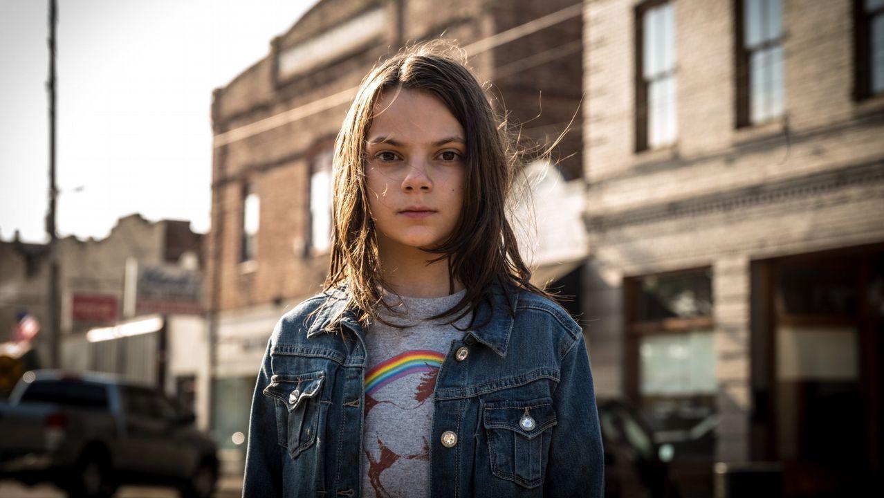 Dafne Keen, en un fotograma de «Logan»