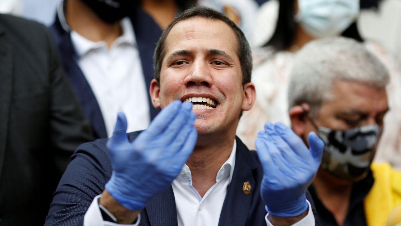 Juan Guaido, durante una conferencia de prensa la pasada semana en Caracas