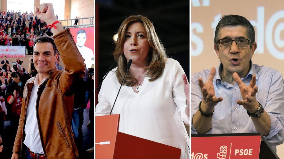 El PSOE decide este sábado la fecha de las primarias.Adriana Lastra y Nino Torre
