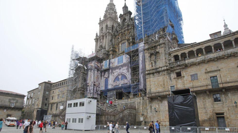 Todo preparado en Santiago para los famosos fuegos del Apóstol