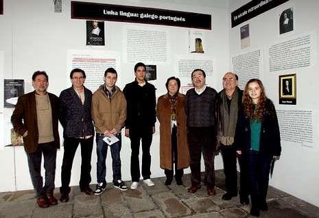 De Toro, Ríos, Castor Casas, Guido Brusco, Prado, Piñeiro, Rueda y Ana Arias, en la exposición.