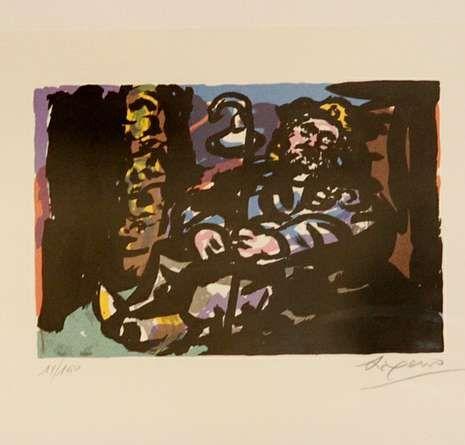 ¿Qué museos de Vigo abren el viernes 8 por la noche?.El grabado de Laxeiro recuperado.