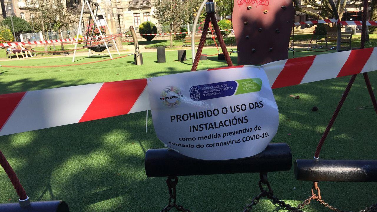 Parque infantil de Las Palmeras, en Pontevedra, cerrado por coronavirus