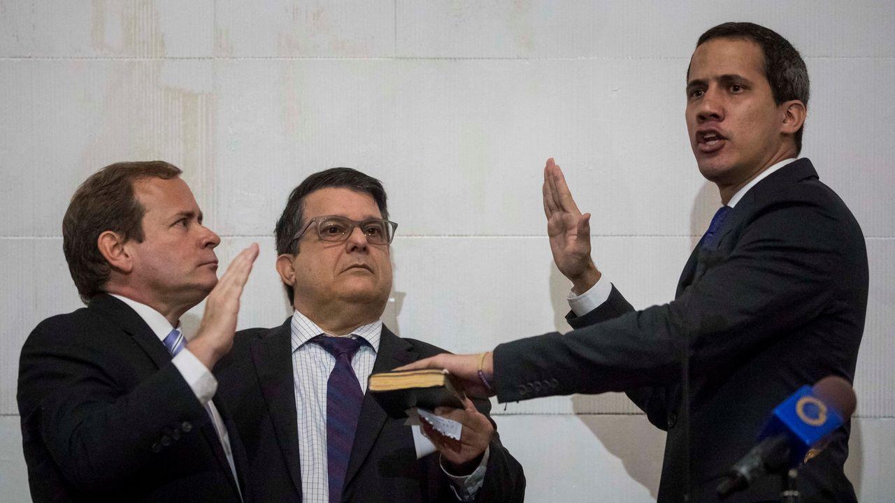 La OEA ha aplaudido la reelección del líder opositor Juan Guaidó al frente de la Cámara.
