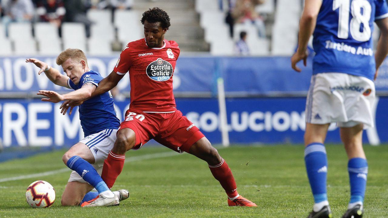 Didier Moreno jugó de mediocentro defensivo contra el Almería y en la segunda parte de Oviedo